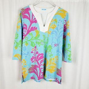 J McLaughlin Floral Catalina Cloth Tunic